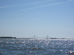 Indian River bridge in the distance