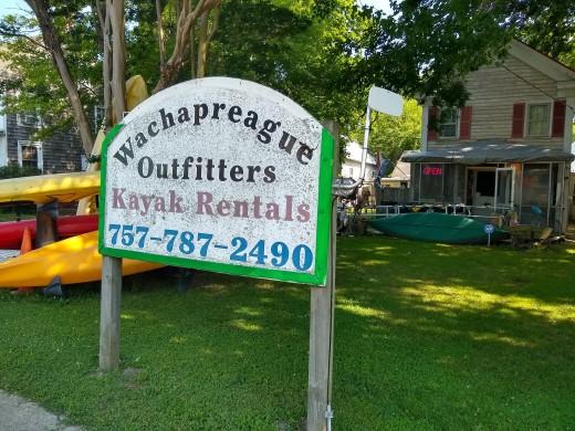 cute kayak rental place