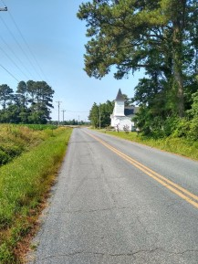 passed several cute little churches